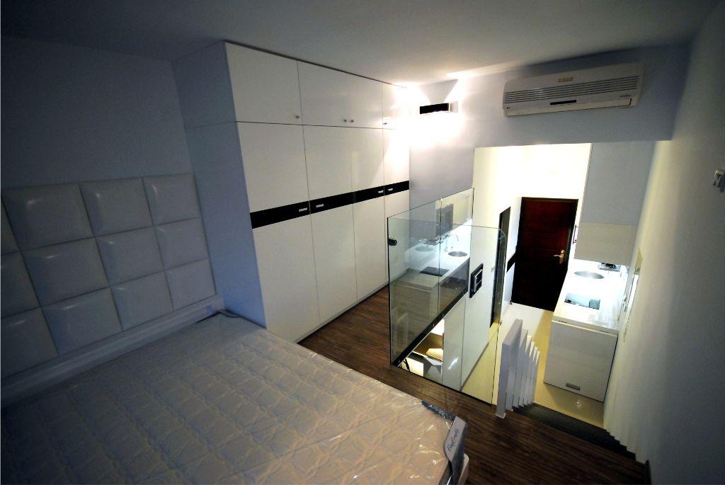白色简欧风跃层小卧室效果图