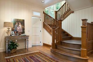 美式风格实木楼梯案例鉴赏图