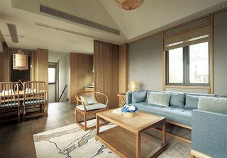 悠然日式和风客厅家居效果图
