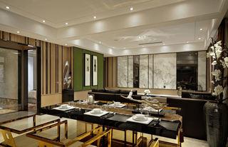 新中式风格餐厅桌面效果图