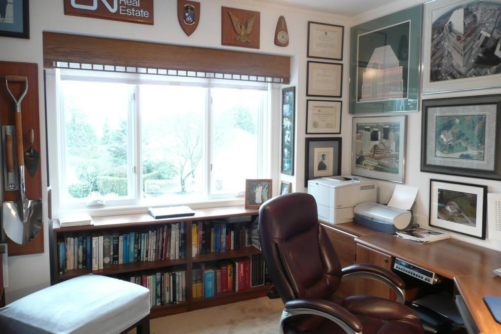 复古欧美风书房窗户效果图