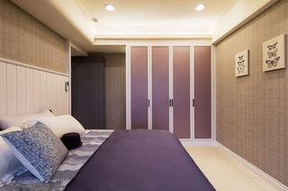 优雅现代卧室紫色衣柜装饰图