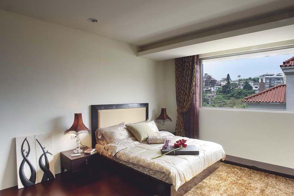 新古典风别墅卧室窗户效果图