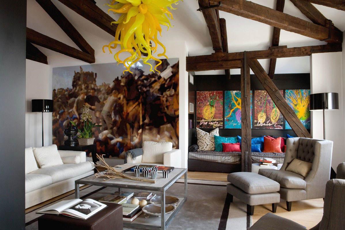 混搭艺术北欧风情 客厅背景墙装饰画欣赏