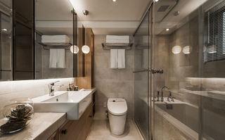 宜家卫生间原木浴室柜设计