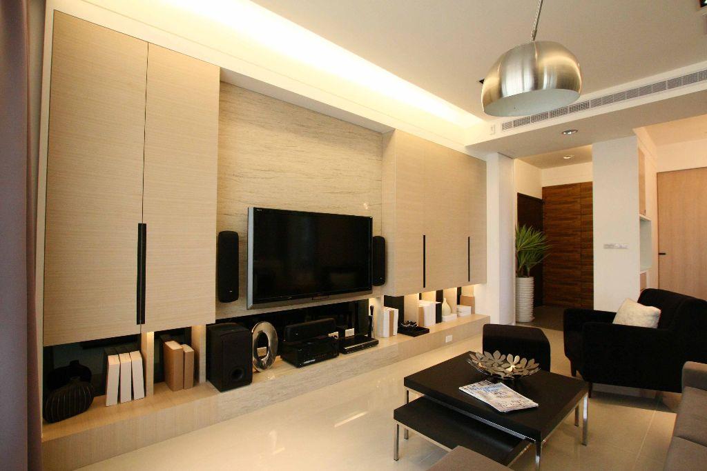 温馨简约现代风 客厅电视墙效果图