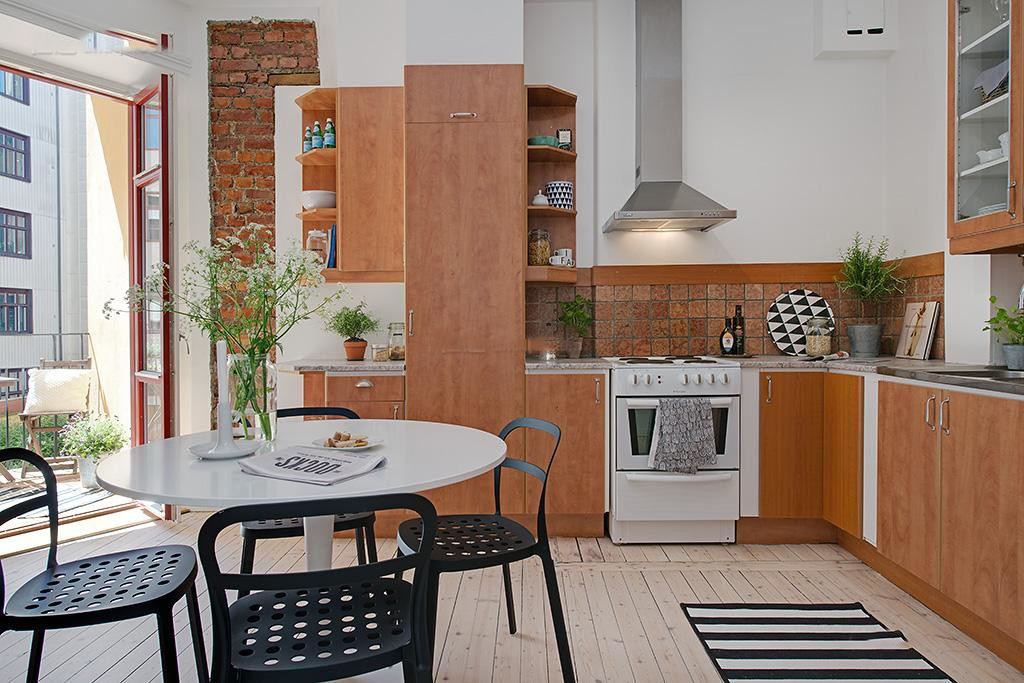 美式风格家庭厨房装修图片