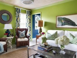 東南亞風格家居客廳裝飾圖