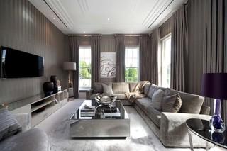 素雅现代客厅窗帘欣赏
