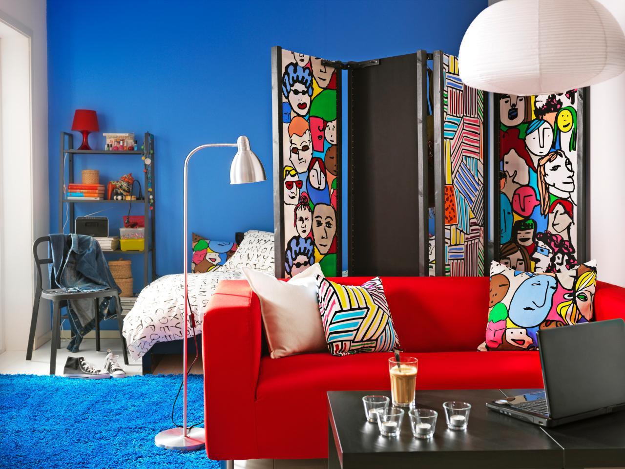 炫彩北欧异域风情 小客厅屏风效果图
