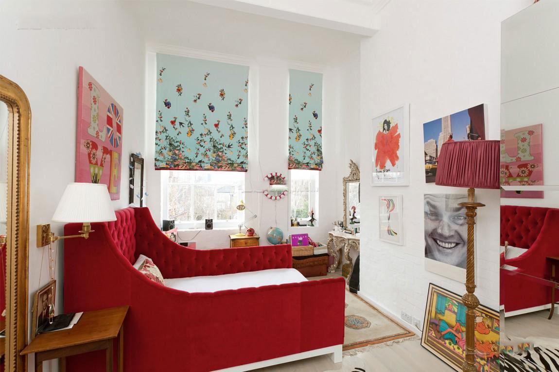 美式风格儿童房个性床装饰