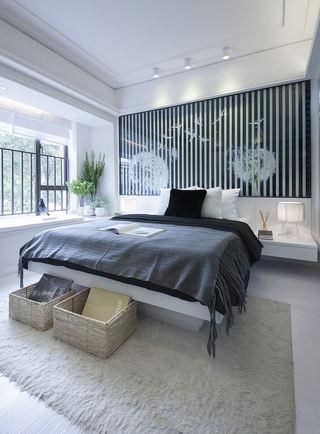 简约后现代卧室 床头背景墙设计
