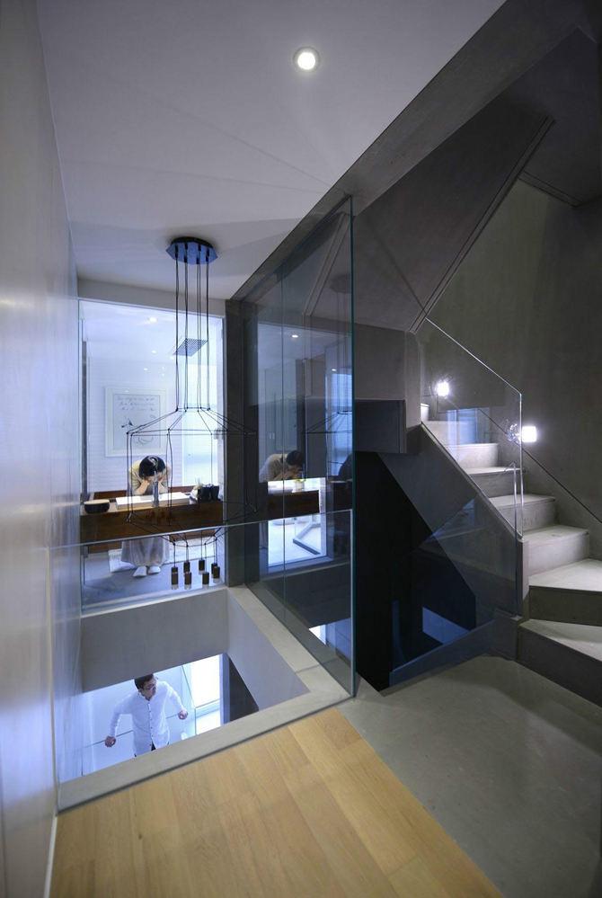 时尚创意现代风复式楼梯效果图