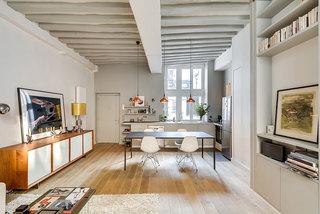 北欧轻工业风餐厨房一体设计