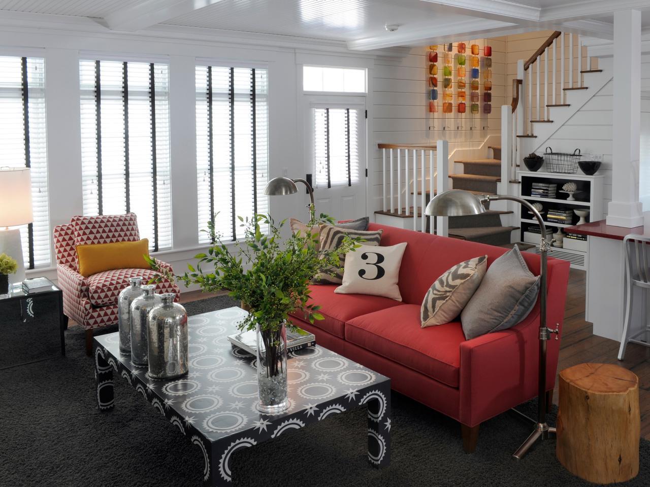 现代小复式客厅家具装饰图