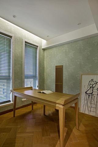 和风日式书房书桌设计