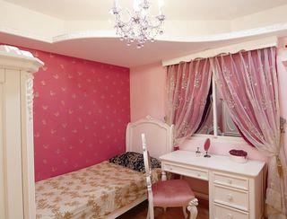 甜美西瓜红 简欧儿童房设计