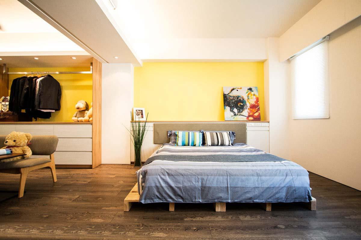 宜家风格卧室室内隔断设计