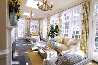 家装客厅窗帘装饰欣赏大全