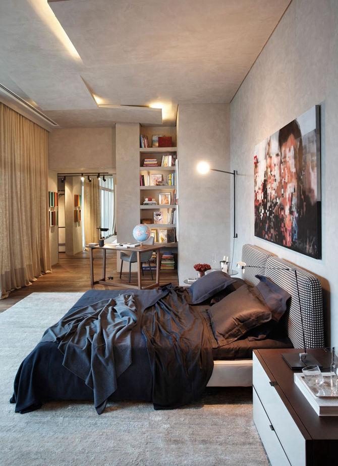 简约主义一居室公寓效果图