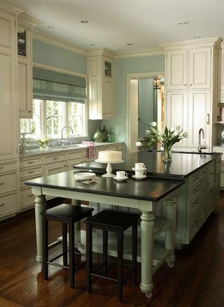美式风格厨房橱柜设计装修图