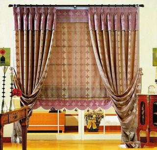 美式風格家居窗簾裝飾