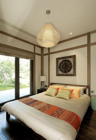 古典日式卧室背景墙效果图
