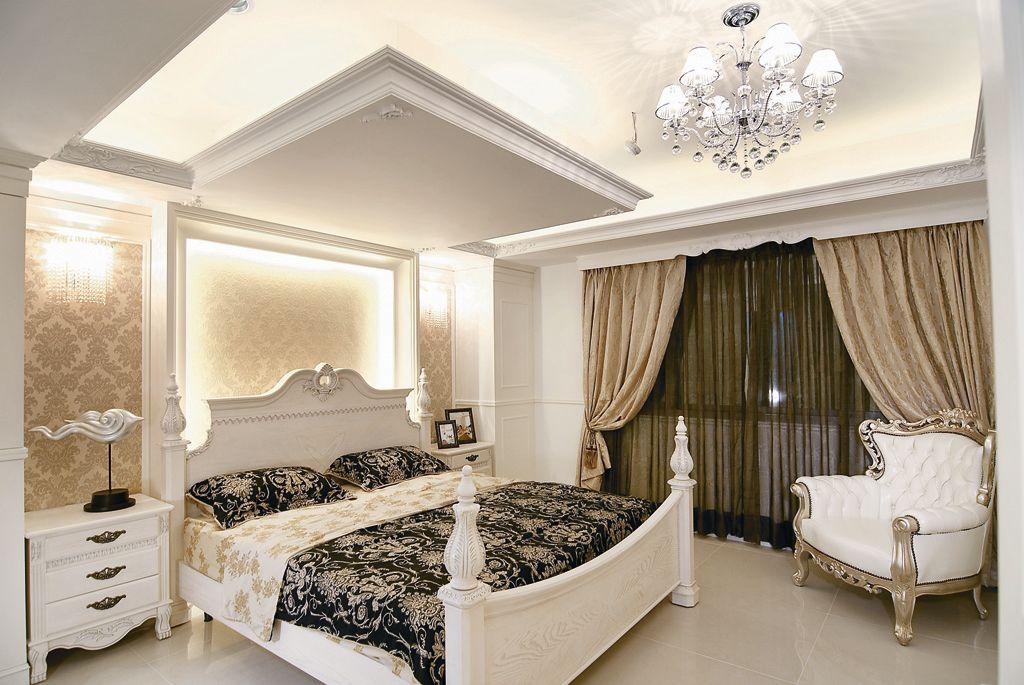时尚欧式新古典卧室吊顶设计