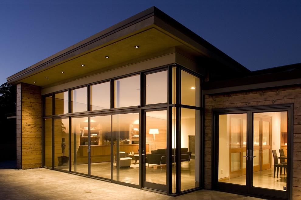 个性现代简欧风别墅落地窗效果图