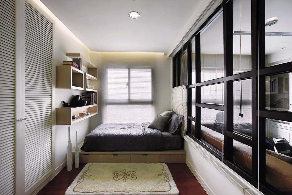 时尚混搭家庭侧卧地台床设计