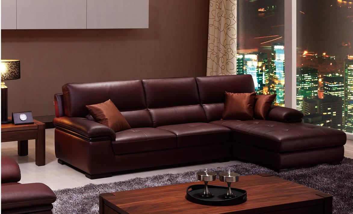 现代都市客厅 猪肝红沙发效果图
