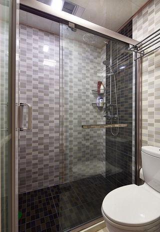 宜家卫生间浴室灰色瓷砖装饰