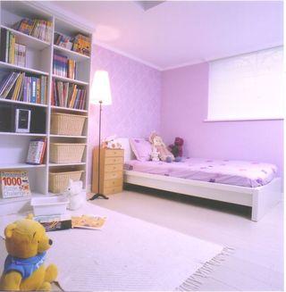 淡紫色现代儿童房美图欣赏