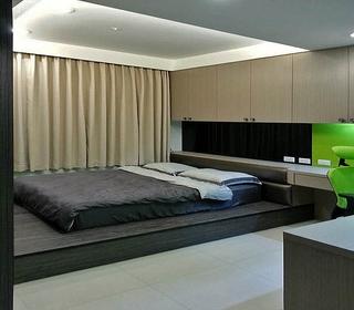 后现代风家居地台床设计