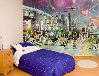 日式儿童房动漫壁纸装饰图