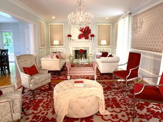 暖色调美式客厅布置效果图