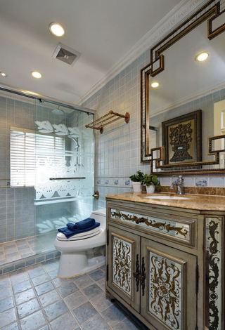 欧式豪华卫生间浴室柜设计
