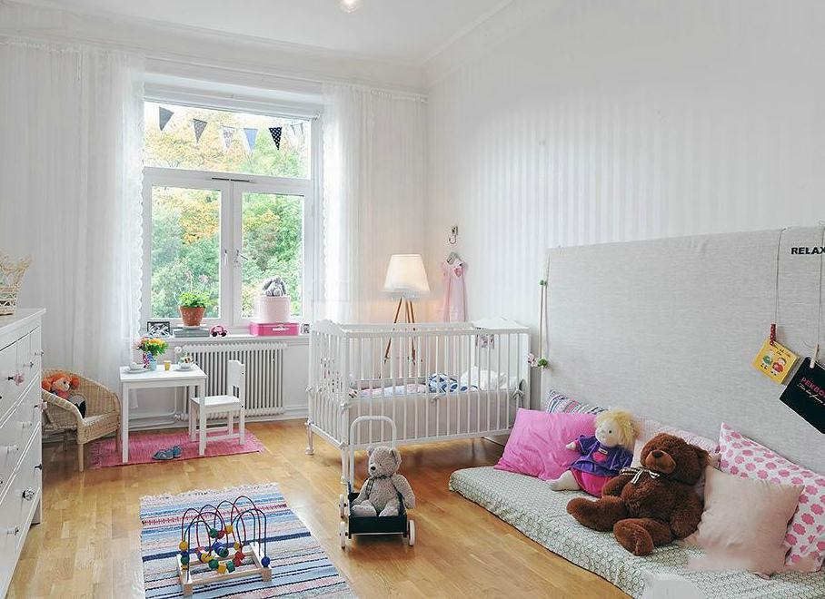明亮北欧风格儿童房窗户效果图