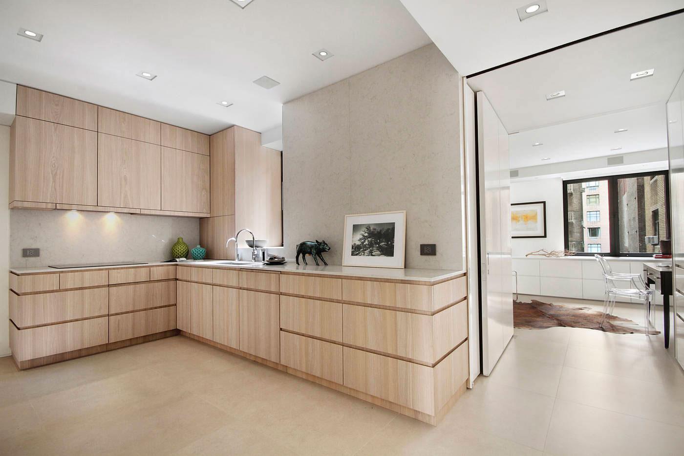 簡約宜家廚房實木櫥柜裝飾圖
