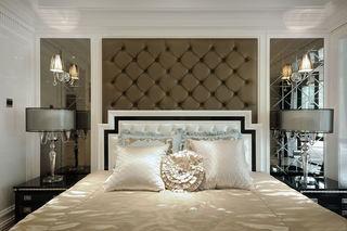 后现代卧室床头软包背景墙设计