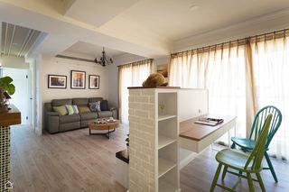 清新北欧文艺范客厅书房一体设计