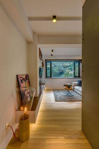 休闲美式客厅景观窗效果图