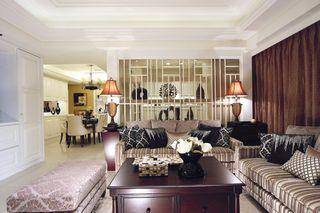 休闲美式装修 三室两厅效果图