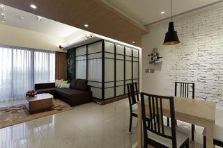 清新日式混搭风 三室两厅效果图