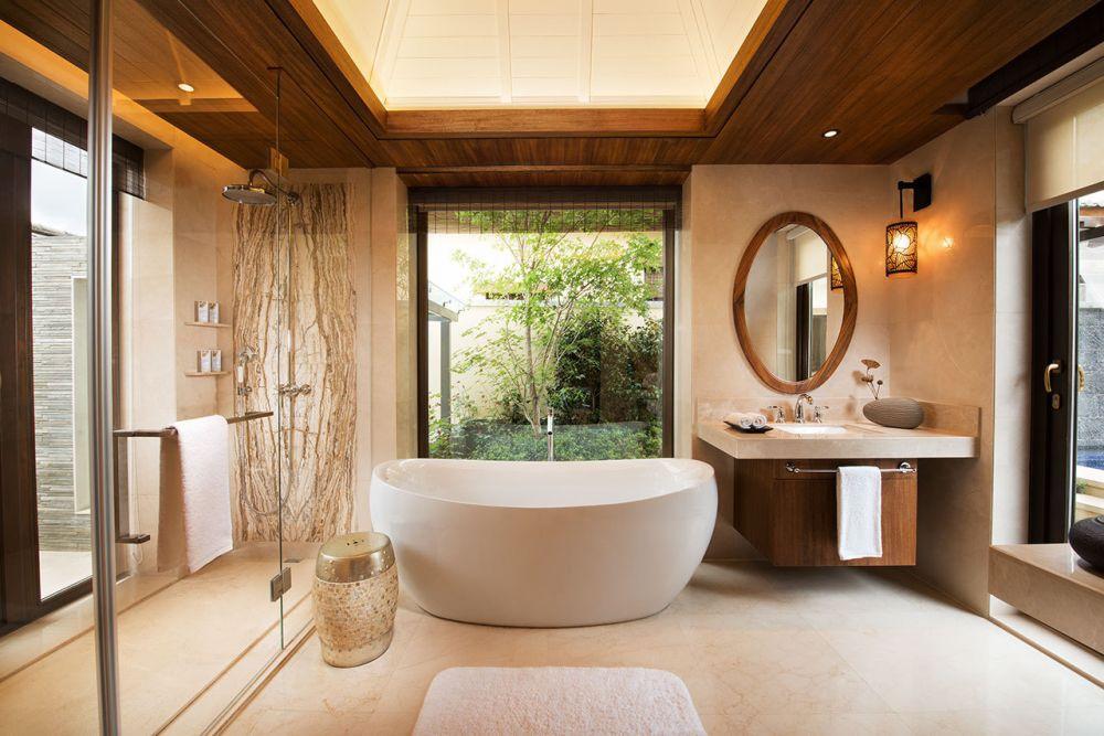 自然东南亚风情浴室装潢欣赏