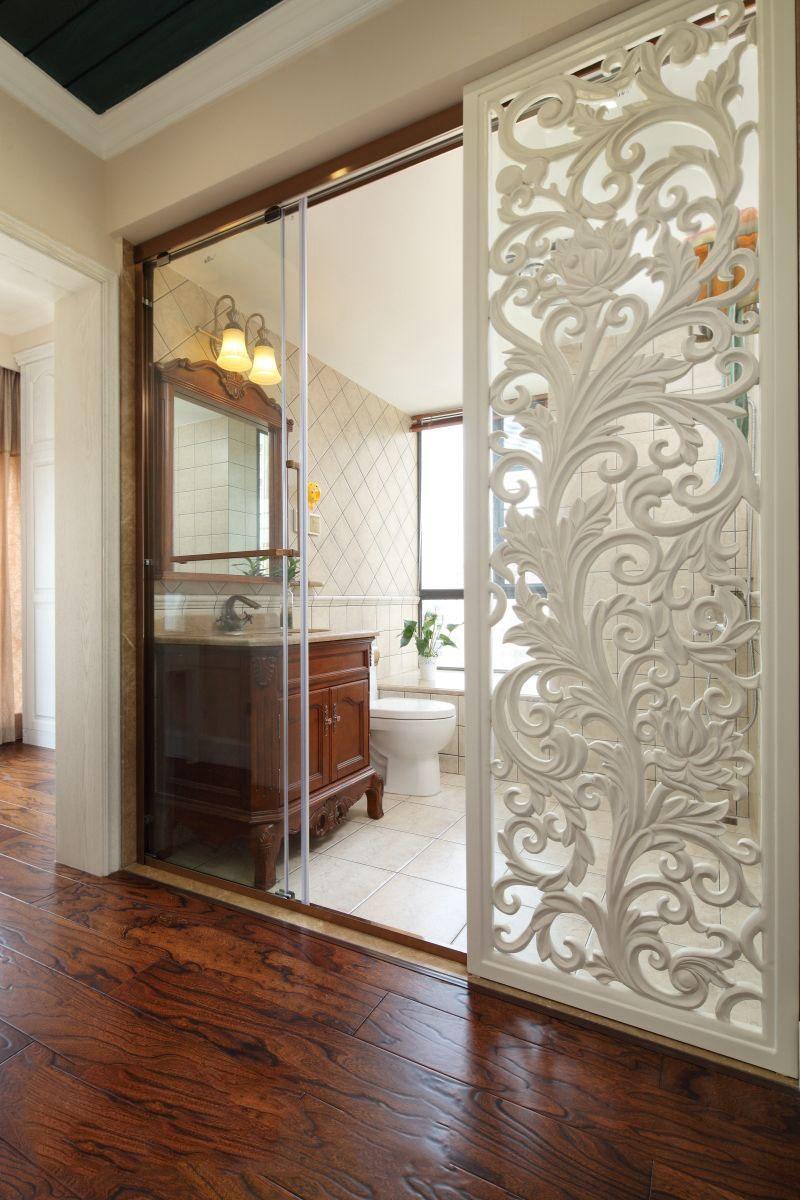 古典欧式风格 雕花窗棂隔断设计