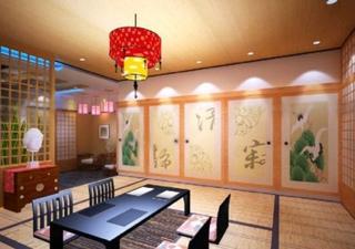 温馨日式和风榻榻米居室效果图