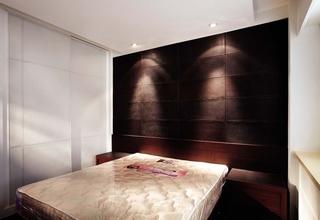 现代家居卧室 床头背景墙装饰图
