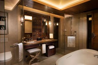 精美古朴东南亚洗手台设计