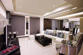时尚现代美式客厅背景墙效果图